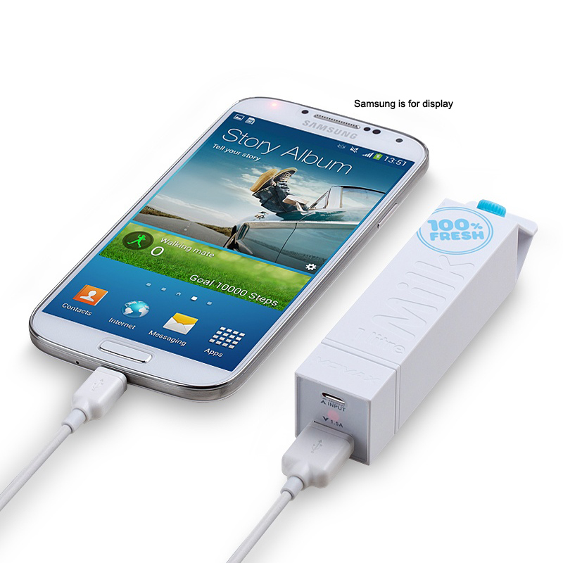 New Arrival Milk 18650 Battery Charge Box Portable Power External Back