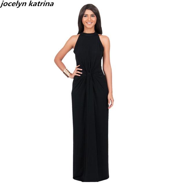 Jocelyn katrina marke sexy Unregelmäßiges kleid reine farbe ...