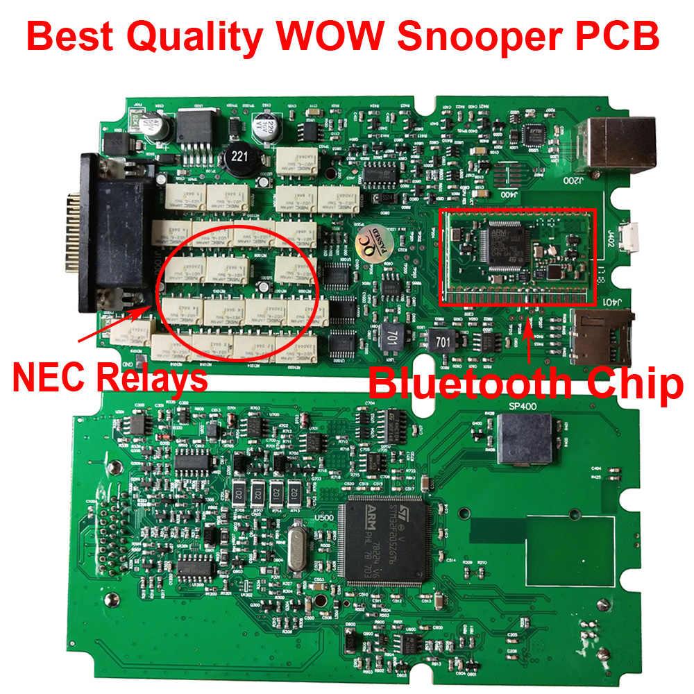 2020 最高品質 W0W Sn0 ごとに pcb と bluetooth keygen 5.008R2 5.0012 ワット-O-W OBD2 自動スキャナー車の診断ツール