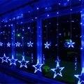 138 светодиодный светильник с романтическими звездами  моделирование  светодиодный  Рождественская оптическая гирлянда  мигающий светильни...