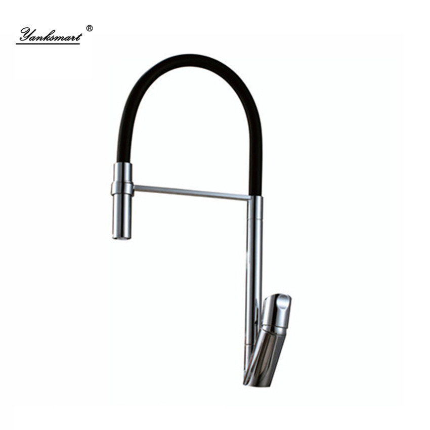 Torayvino AU Kitchen swivel 360 New arrival soild brass polished chrome Solid Brass Mixer Sink Tap Pull Out Down Kitchen Faucet solid brass led swivel spout kitchen sink faucet pull out mixer tap chrome polished
