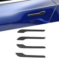 4pcs/set Car Door Handle Cover Trim Protector Sticker Epoxy Carbon Fiber for Tesla Model 3 Exterior Accessories