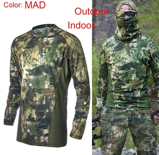 TEE SHIRT CAMOUFLAGE MILITAIRE OUTDOOR PAINTBALL ARMEE