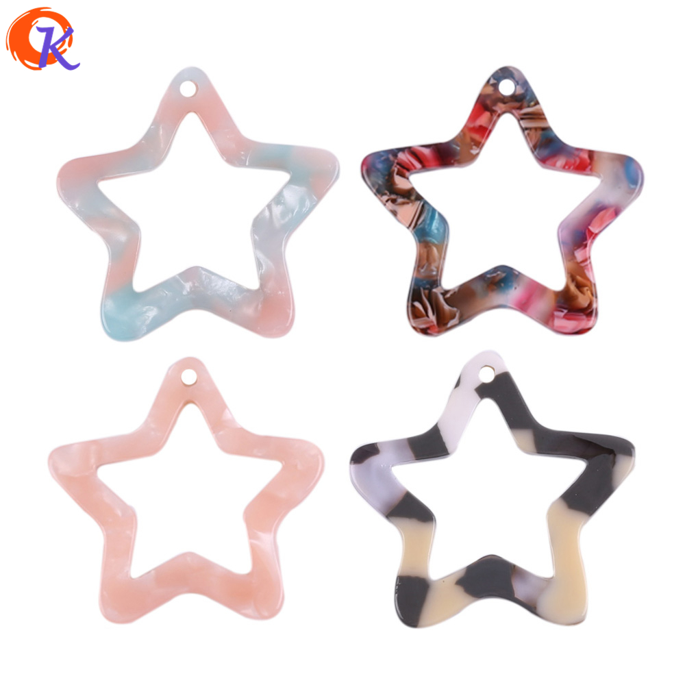 Cordial Design 27MM 30Pcs Earring Findings/Earrings Jewelry Making/Acetic Acid Bead/Star Shape/Hand Made/Jewelry Accessories