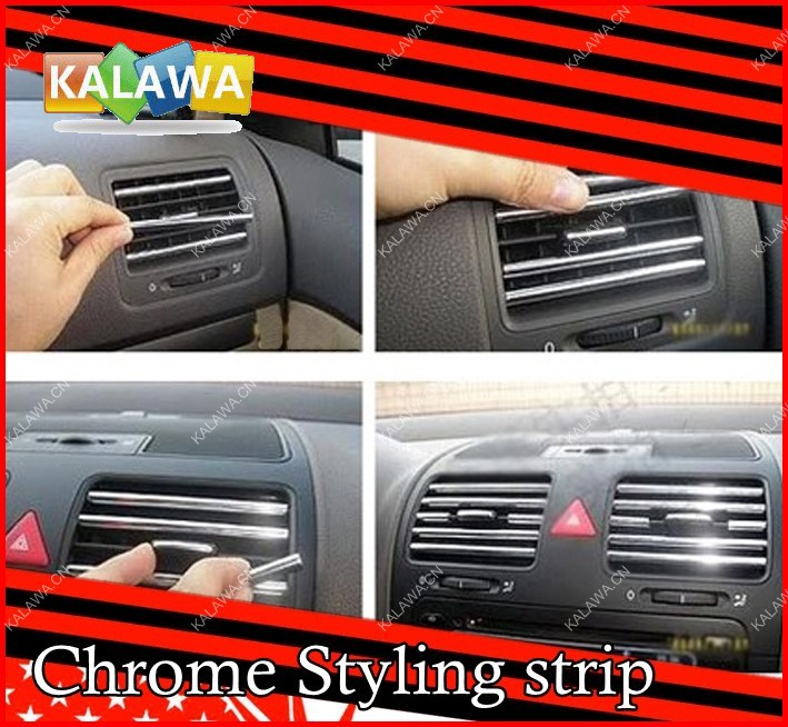 1 set u style diy car interior air conditioner outlet vent for Pare vent interieur decoration