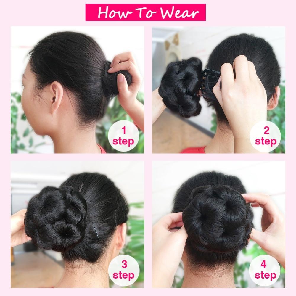Wignee High Temperature Synthetic Fiber Curly Chignon Bun Hairpiece