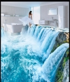 Custom 3 d PVC wallpaper photo wallpaper Ultra clear waterfalls sitting room mural all over the kitchen floor wallpaper