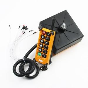 Image 5 - Interruptor de controle remoto rádio sem fio industrial 1 receptor + 1 transmissor velocidade grua guindaste controle rádio elevador F23 A + s