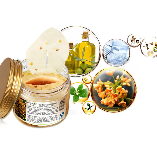 BIOAQUA Gold Osmanthus Eye Mask Eye Patches  Remove Dark Circles Eye Bag Collagen Gel Protein Sleep Patche  Eye Care 2
