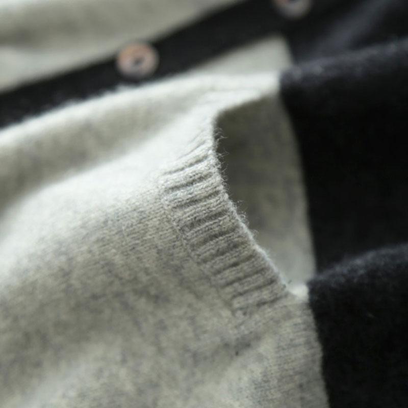 Cardigan grande taille 2018 100% pur cachemire femmes Cardigan lâche chandail à manches longues tricoté col en v femmes cachemire Cardigan manteau-in Cardigans from Mode Femme et Accessoires    3