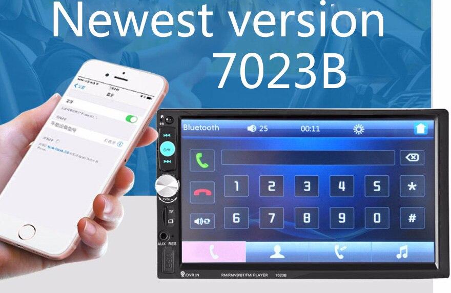 "imágenes para 7023B 7 ""Pulgadas Pantalla Táctil 2DIN Coche Radio Auto Video Audio MP4 MP5 Jugador 1080 P HD TFT Bluetooth FM/USB/AUX"