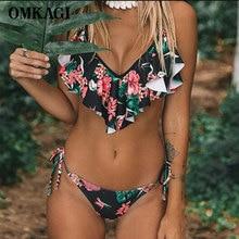 OMKAGI Brand Bikini 2019 Swimsuit Swimwear Women Sexy Push Up Female Bandage Swimming Suit For Women Bathing Suit Beachwear