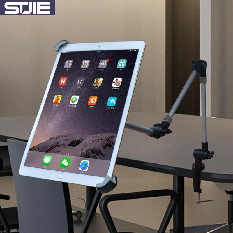 цена на Cobao universal tablet holder metal Aluminum long arm adjustable 9.5 9.7 12 12.9 14.5 tablet mount for ipad air pro ipad stand