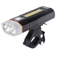 NEWBOLER USB Bike Light Front Bicycle Light Rechargeable Headlights Handlebar MTB Road Cycling 2 LED Lights