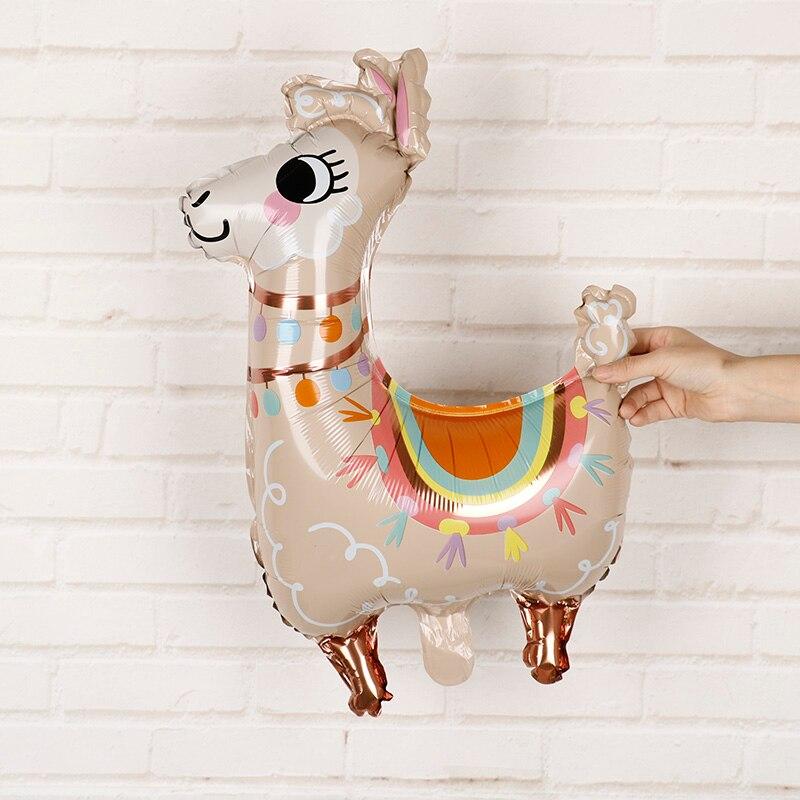 1 Pza globos de papel de Llama dibujos animados animales unicornio globo decoración cumpleaños boda favores y regalos globos de Alpaca bolas de helio