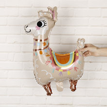 1pc Llama Foil Balloons cartoon animal llama balloon decoration Birthday Wedding favors and gifts Alpaca balloons helium balls(China)