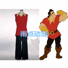 Beauty and the Beast Prince Gaston Cosplay Costume shirt+pant+shoe covers+gloves