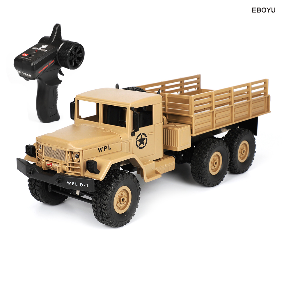 WPL B16 RC Truck B-16 1/16 2.4G 6WD Crawler Off Road RC Truck With Light RTR