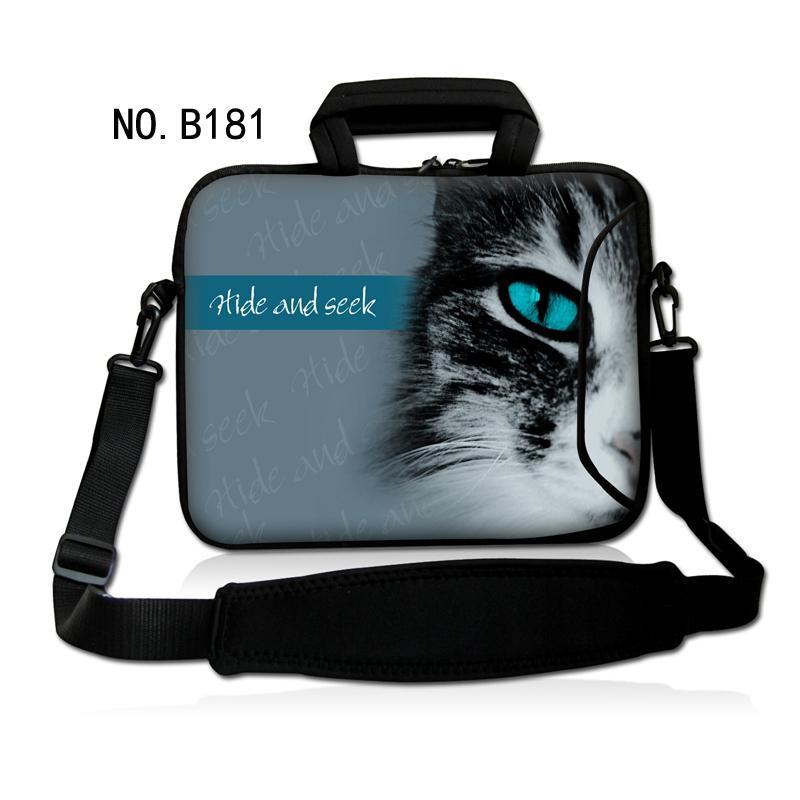 Cute Cat Face 11 13 15 inch Laptop shoulder bag handbag For 11.6 13.3 15.4 17 macbook air pro sleeve case for women