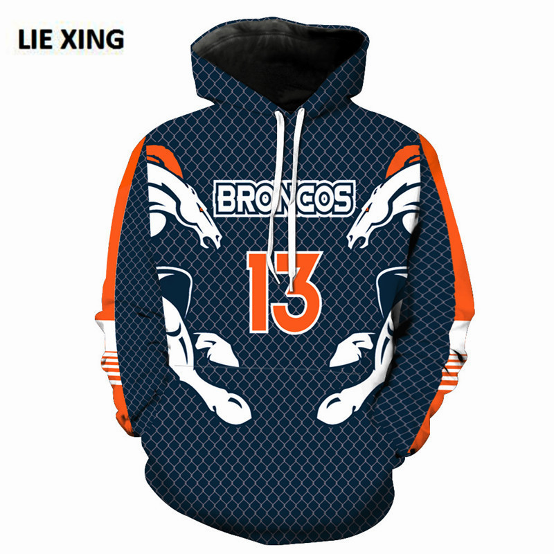 huge discount 12e6b df918 Details about SALE ! DENVER BRONCOS Hoodie Football Hooded Pullover NFL  S-5XL