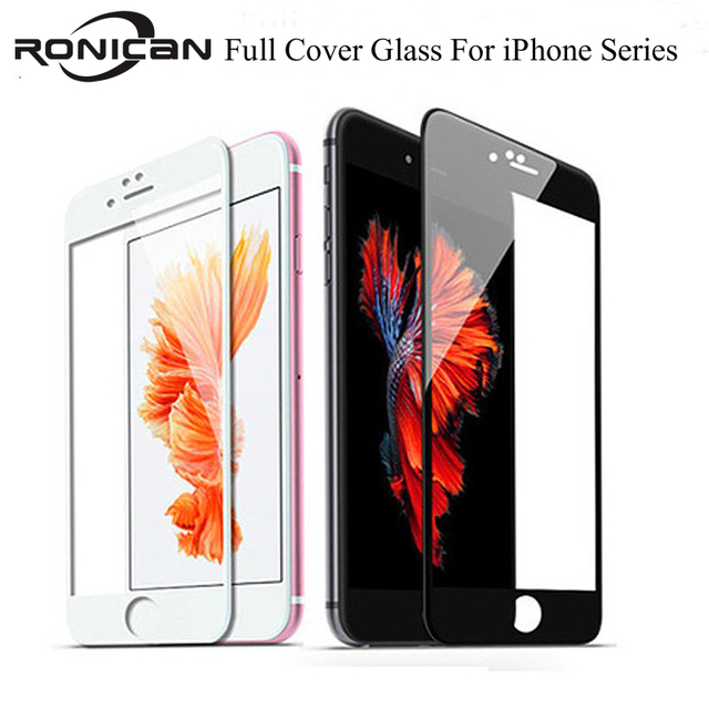 3D 9H Full Coverage Cover Tempered Glass For iPhone 6 6s Plus 5 5S 5C SE Screen Protector Protective Film on iPhone 7 8 Plus X S