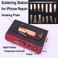 Чип отопления станции пайки сварки паяльная Plateform для iPhone NAND Процессор A8 A9 BGA IC удаление разобрать распайки инструменты