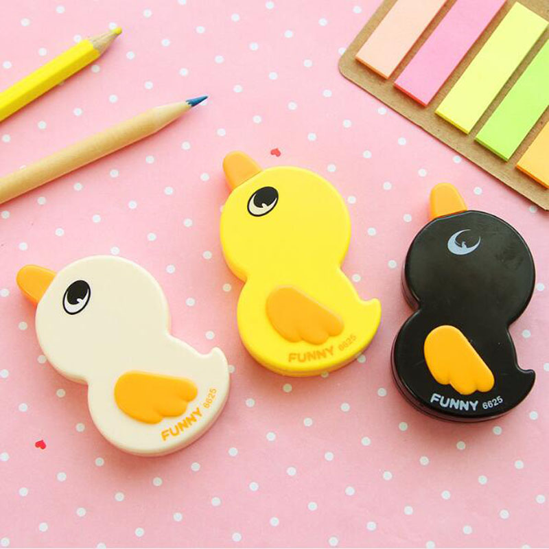 1pc Correction Tape Super Kawaii Cute Duckling Corrective Concealer Tape Kids Learning Office School Supplies Korea Stationery