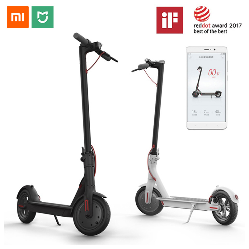 Xiao mi M365 mi JIA Scooter électrique mi Smart E Scooter Skateboard mi ni pliable Hoverboard Electrico Longboard adulte 30km batterie