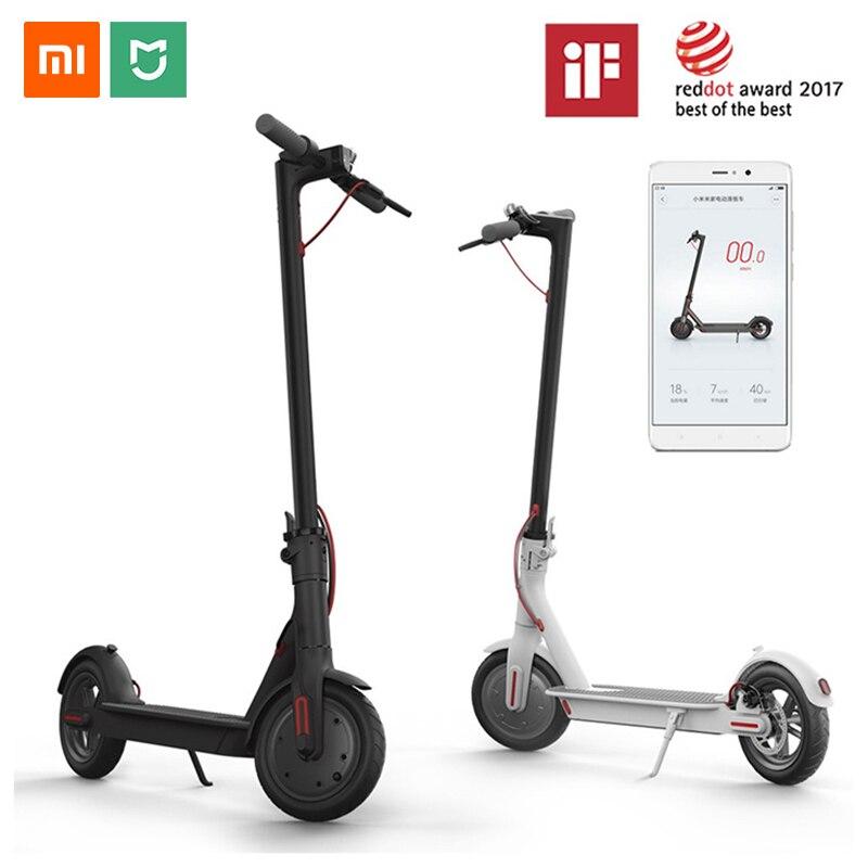 Xiaomi M365 mi JIA Scooter Eléctrico mi inteligente E Scooter Skateboard mi ni plegable Hoverboard eléctrico Longboard adulto 30km de la batería
