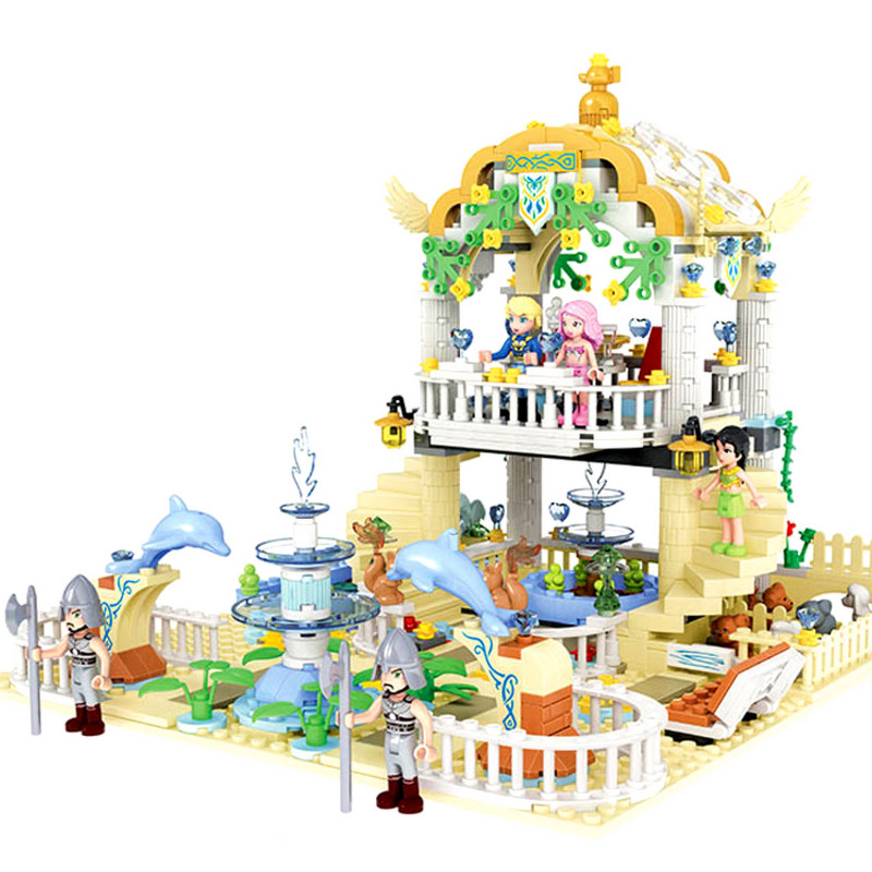 Diy Prince and Princess Romantic Water Garden Park Educational Building Block Bricks Girls Toy Compatible with Legoingly Friends цены онлайн