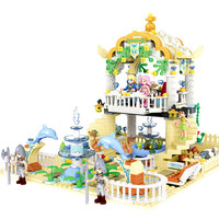 Diy Prince and Princess Romantic Water Garden Park Educational Building Block Bricks Girls Toy Compatible with Legoingly Friends