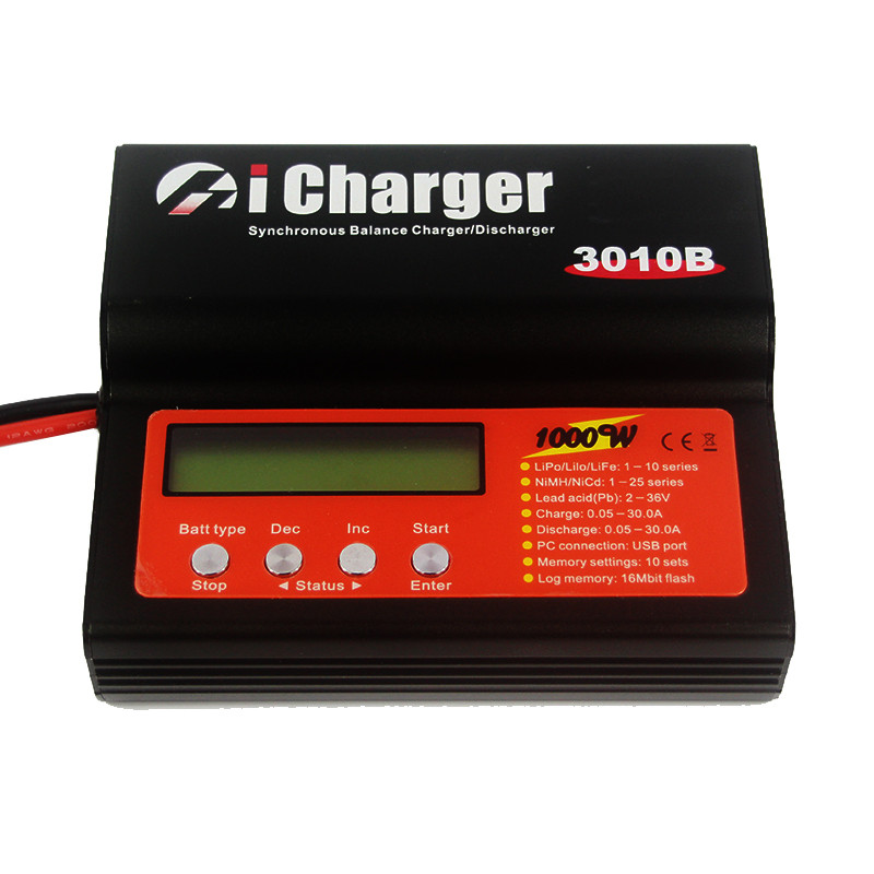 iCharger 3010B 1000W 30A DC 1-10S Lipo Battery Synchronous Balance Charger DischargeriCharger 3010B 1000W 30A DC 1-10S Lipo Battery Synchronous Balance Charger Discharger