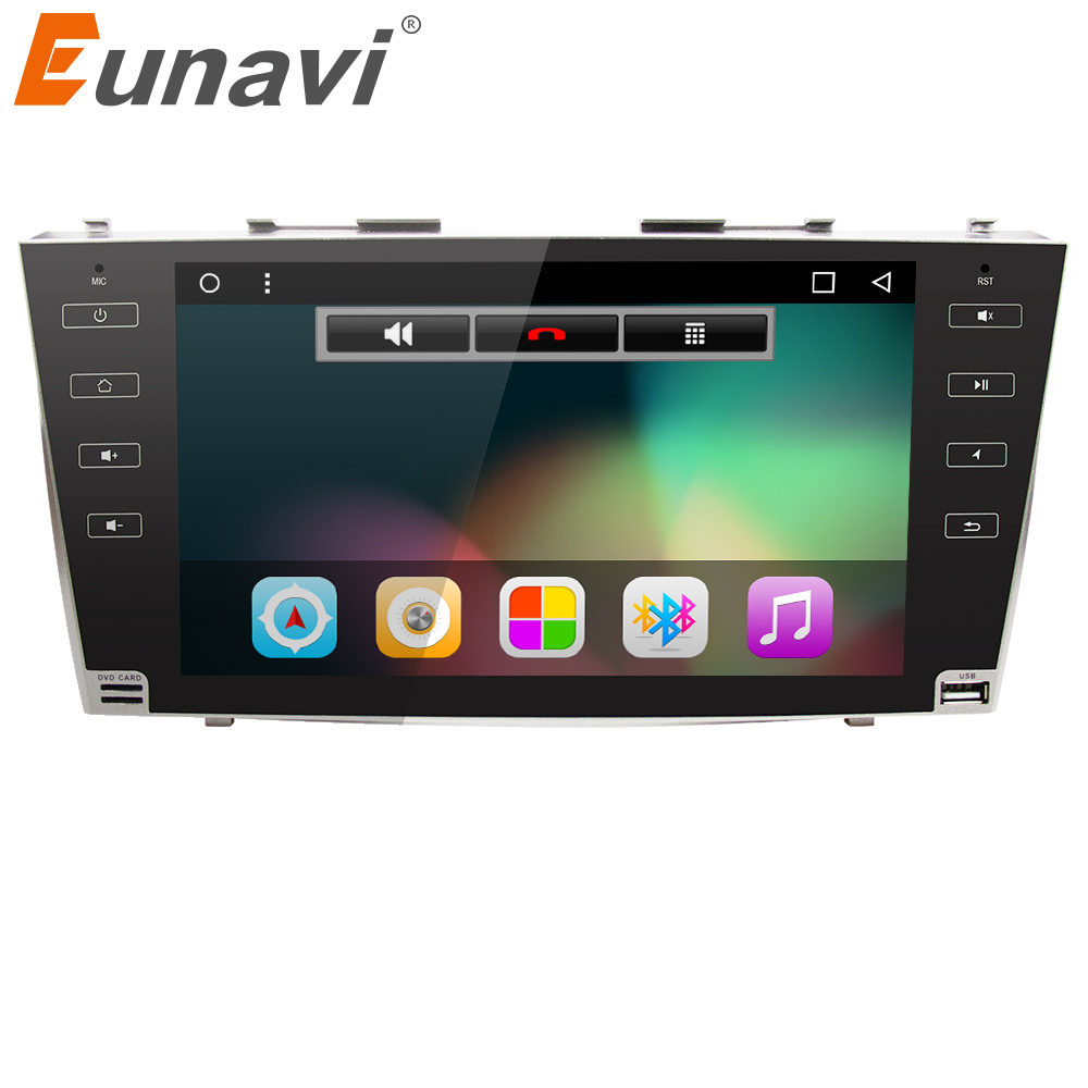 Eunavi 9 1024*600 2 din Android 7,1 автомобилей Радио gps стерео для toyota camry 2007 2008 2009 2010 2011 с bluetooth, Wi-Fi RDS USB