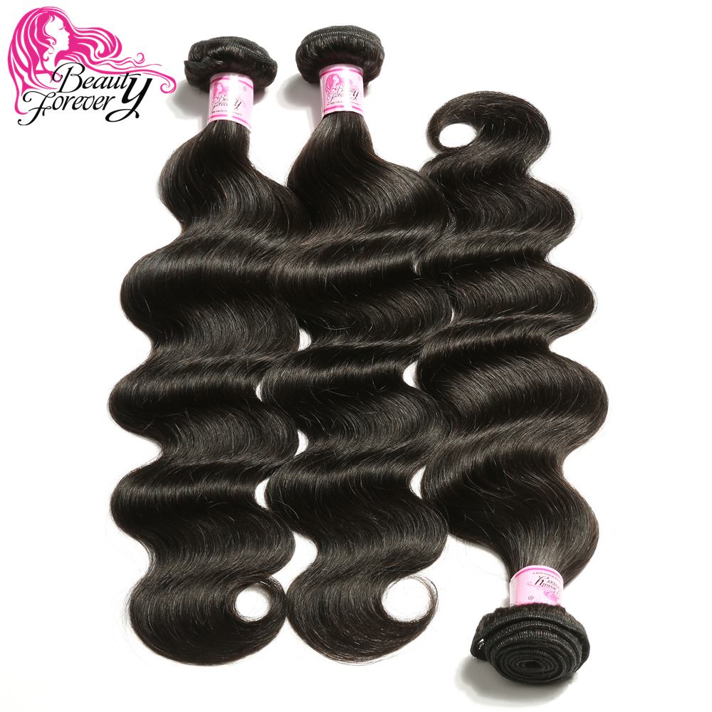 Body Wave Brazilian Hair Weave 3 Bundles 100% Remy Human Hair Weaving Natual Color 8-30 inch Hair Beauty Forever(China)