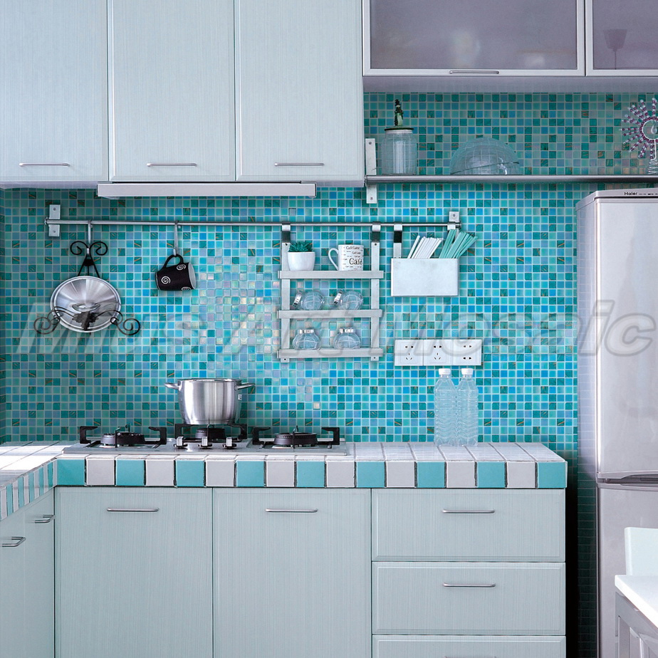 Iridescent glass mosaic tiles kitchen mosaic tile glass swimming ...
