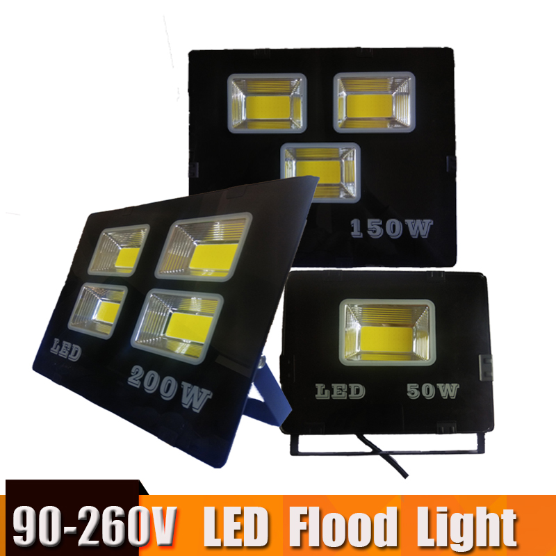 Ultra-mince 90-260 V led projecteur Focos led Extérieur Étanche IP65 200 w 150 w 100 w 50 w led Spotlight Refletor Éclairage Extérieur