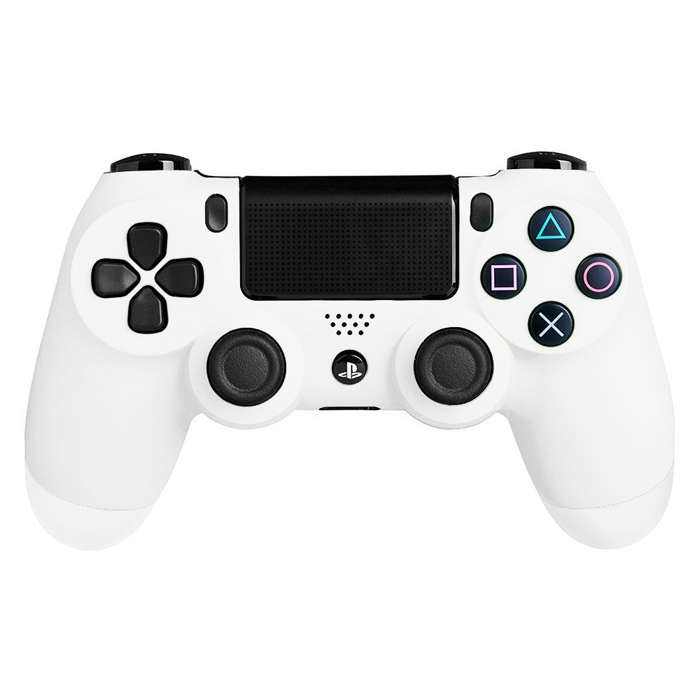 PS4 PS 4 White Full set Housing Shell Case Replacement Mod Kit For Sony  Playstation 4 Dualshock 4 Wireless V1 Controller Gamepad