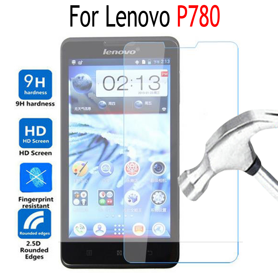 Premium Tempered Glass Film For Lenovo P780 Screen Protector Cover on P 780 Mobile Phone Protective Film Case with Clean Tools