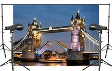 150x210cm Beautiful Spectacular Bridge Tower of London Photography Background Light Night View Backdrop Landscape