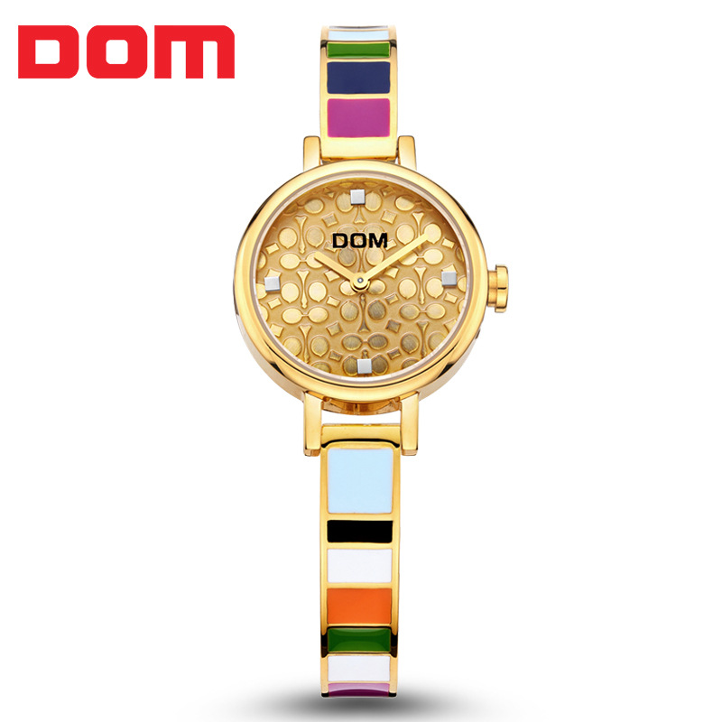 Watch Women Fashion Luxury Brand Casual Gold Watches DOM Ladies Quartz Wristwatches Female Clock Relogio Feminino Women Watches 2016 ibso brand elegant retro watches women fashion luxury quartz watch clock female casual leather women s wristwatches