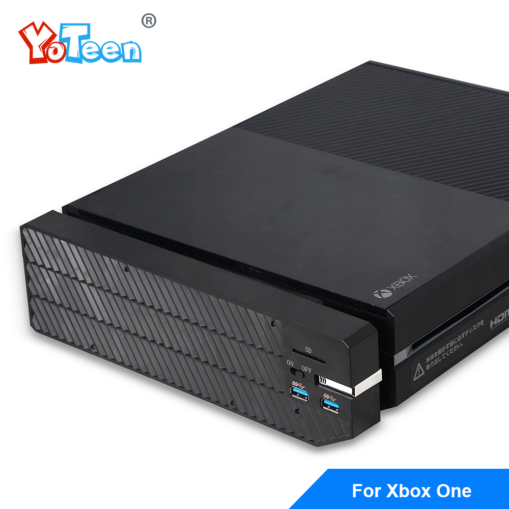 For Microsoft Xbox One Extender Hard Drive Case Box with Cooling down fun SD card port Usb 3.0 Port