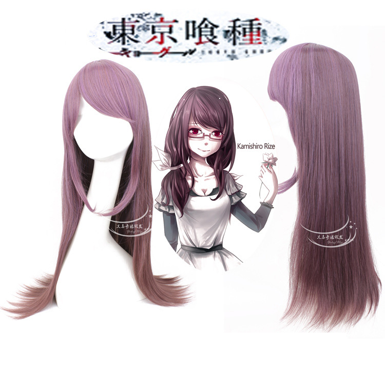 Good quality Tokyo Ghoul hair accessories 300g 60cm synthetic hair jewelry for Kaneki Ken cosplay wigs