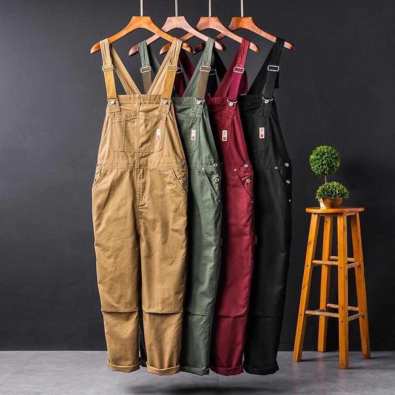 2019 New Hip Hop Streetwear Bib Pants Overall   Jean   Fashion Men   Jean   Overalls Ripped Bib   Jeans   For Men Male Ripped Denim Jumpsuit