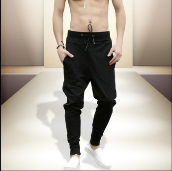 S-4xl Men Harem Pants Slim Feet Pants Large Size Casual Pants Sweatpants Singer Costumes New Korean Spring And Summer