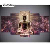 REALSHINING Buddha Diy Needlework Diamond Painting Cross Stitch Square Diy Diamond Embroidery Home Decoration Diamond Mosaic