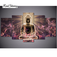 REALSHINING Buddha Diy Needlework Diamond Painting Cross Stitch Square Diy Diamond Embroidery Home Decoration Diamond Mosaic