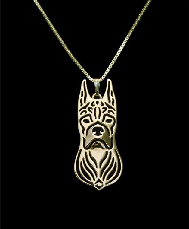 DANGGAO fashion Newest Unique Handmade Boxer pendant choker Necklace for women Dog charm Jewelry Pet Lovers Gift Idea
