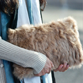 European winter new crocodile rabbit Fur bag fashion women bag single shoulder bag handbag