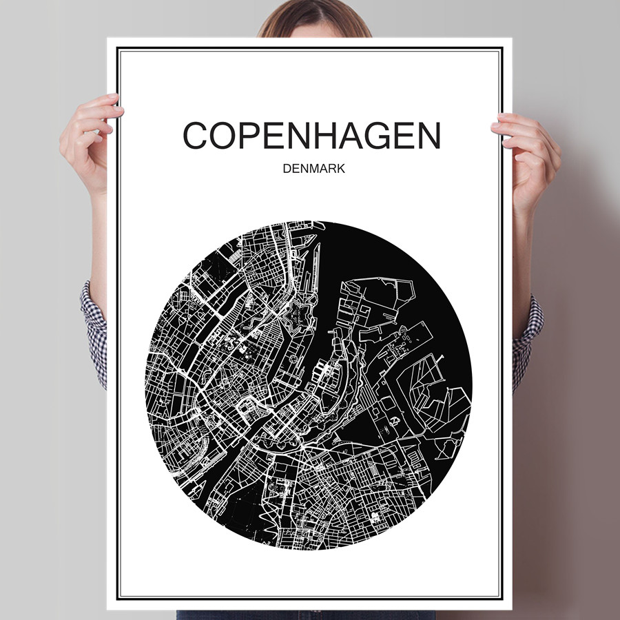 Popular City Map PostersBuy Cheap City Map Posters lots from