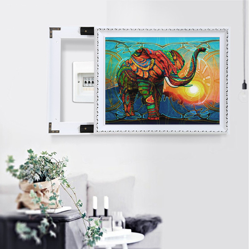DIY round diamond painting 5D quot elephant quot pattern embroidery cross stitch mosaic diamond rhinestone home decoration gift in Diamond Painting Cross Stitch from Home amp Garden